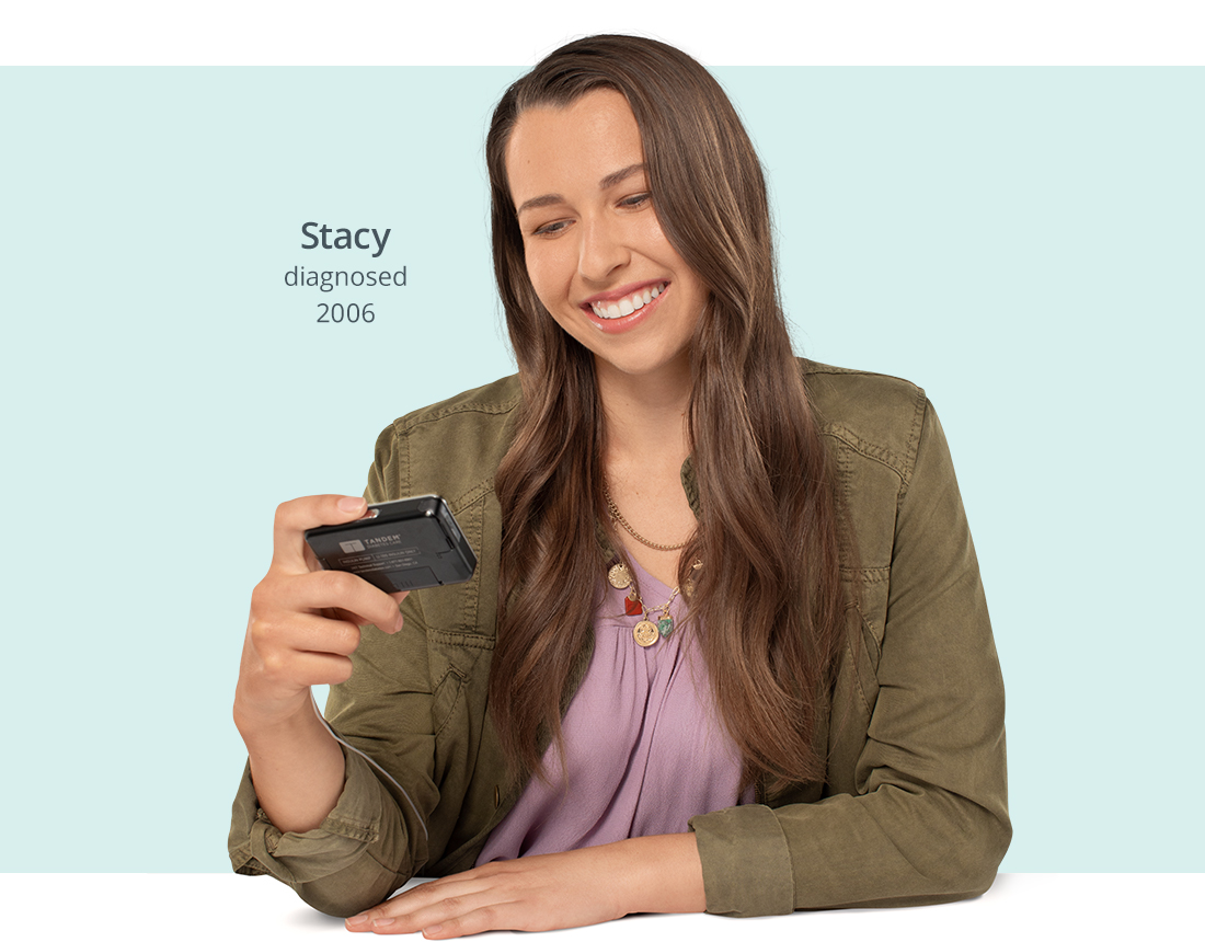 Stacy with t:slim X2 Insulin Pump