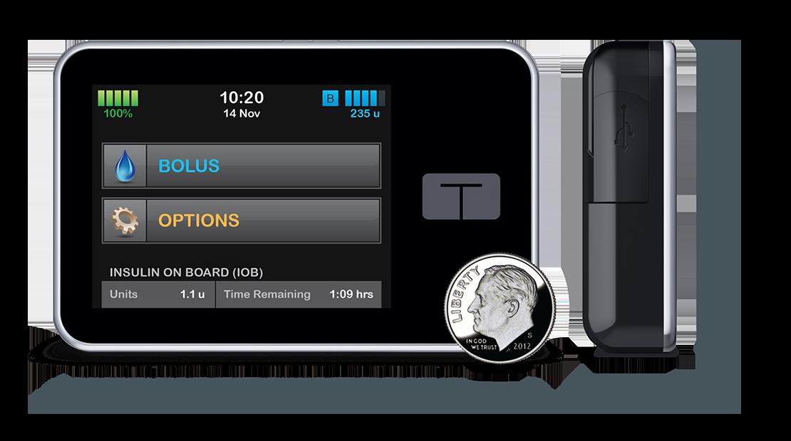 Iphone Omnipod Medtronic black diabetic Type 1 Diabetes Smartphone Tummietote-2 Band with oversized vinyl window running Tslimx2